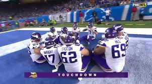 vikings do thanksgiving touchdown celebration against lions ny