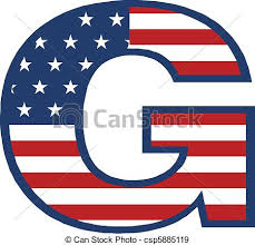 eps vectors of usa g letter csp5885119 search clip art