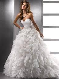 brautkleid organza gown sleeveless sweetheart organza ruffles court