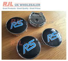 ford focus wheel caps 2 sets of 4 x 60mm rs light blue alloy wheel badges centre caps