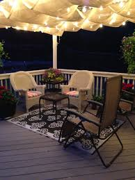 Patio Lights Ideas by Deck Ideas Hang Patio Lights From Roof Over The Deck Patio And