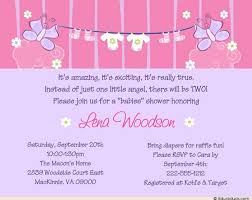 laundry baby shower invitation clothesline pink