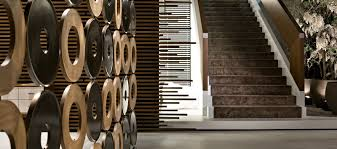 wooden room divider residential bond giorgetti