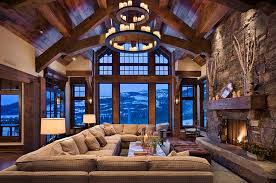 chalet style house rustic living room 9 awe inspiring chalet style has an imposing