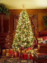 living room colored christmas tree lights decorating ideas