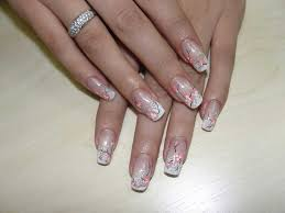 white french nail art with flowers one1lady com nail nails