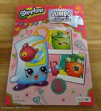 2 books shopkins jumbo coloring activity book w 24ct crayola