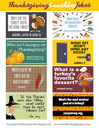 thanksgiving lunchbox jokes free printable included