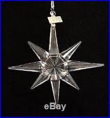 Swarovski Christmas Star Ornaments by Swarovski 1995 Crystal Annual Christmas Star Ornament With