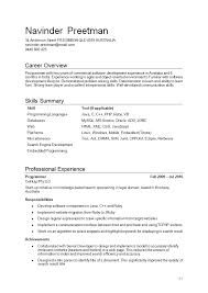 Career Overview Resume Resume Objective Examples Musicaemstock With Regard To 23 Terrific
