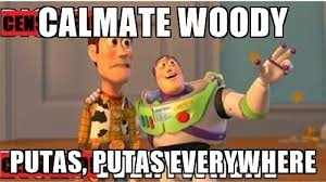 Putas Putas Everywhere Meme - calmate woody putas putas everywhere toy story everywhere