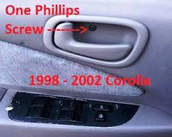1998 Toyota Corolla Interior Door Handle Tackle The Toyota Corolla Interior Door Handle Problem