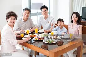 happy family lunch stock photo getty images