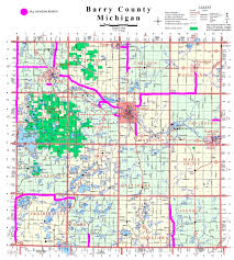 Allegan Michigan Map by All Season Road Map Barry County Road Commission