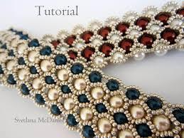 pdf tutorial beaded bracelet 8mm 6mm pearl seed bead
