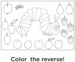 download the very hungry caterpillar coloring page