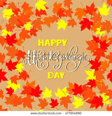 happy thanksgiving lettering greeting text autumn stock vector