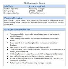Accounting Assistant Job Description Resume by Job Description Accounting Clerk Resume Permanentwish Tk