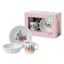 wedgwood rabbit nursery set wedgwood rabbit 3 porcelain nursery set in pink