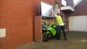 Cool Garage Storage Cool Motorcycle Storage Youtube