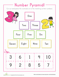 number pyramid 1 10 worksheet education com