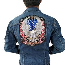 Iron On American Flag Usa Flag Eagle Iron On Patch Embroidered Applique Sewing Label