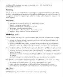 Example Of Accountant Resume by Professional Inventory Accountant Templates To Showcase Your