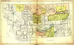 Map Montana Indian Land Cessions In The U S Montana 2 Map 40 United