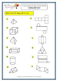 grade 3 maths worksheets 14 6 geometry creating shapes by paper