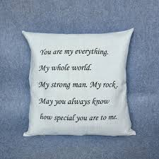 personalized gifts for him personalized gifts for him or custom pillow letters