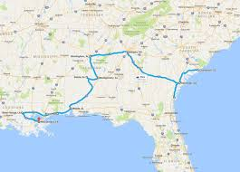 map trip the usa south road trip itinerary finding the universe