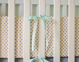 metallic gold dot crib bumpers gold crib bumpers polka dot