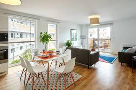 modern spacious terrace paris apartment design project small