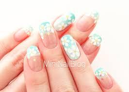 mint flower nail art nailbees