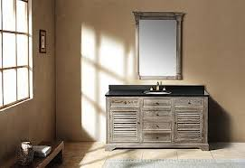 Antique Style Bathroom Vanity by Going Gray Aged Wood Bathroom Vanities For A Natural Antique Look