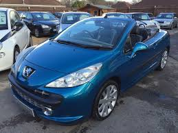 peugeot 2 door car 2007 07 peugeot 207 cc 1 6 16v gt 2 door convertible automatic