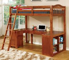 com furniture of america lavinia twin loft bed with workstation 41 625 by