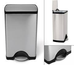 poubelle de cuisine a pedale poubelle à pédale deluxe rectangular 38 litres acier 38 litres