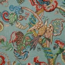 Upholstery Fabric Uk Online Poppinjay Linen Thirties Blue Green Ian Sanderson Upholstery