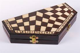 3 player small wood chess set chess house