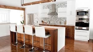 cuisine contemporaine blanche et bois amovible créatif clôture