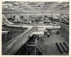 Kansas travel company images Boeing b 29 superfortress bomber assembly lines boeing airplane