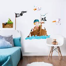 chambre enfant pirate sticker pirate nono