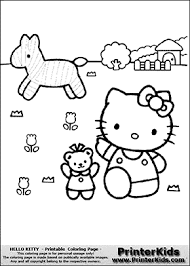 kitty friends coloring kitty