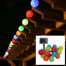 solar powered outdoor string lights amazon com e joy chinese lantern led solar string lights 10