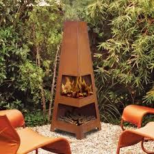 Mexican Outdoor Fireplace Chiminea Sahara Outdoor Rust Firepit Chiminea Backyard Fireplace Garden