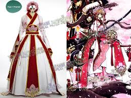 Sakura Halloween Costume Tsubasa Chronicle Cosplay Sakura Costume Kimono Gown