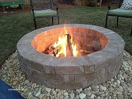 Fire Pit With Lava Rocks - fire pit beautiful river stone fire pit river stone fire pit