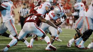 college football roundup buckeyes roll in the second half la times