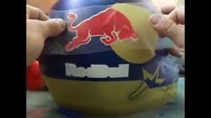 custom motocross helmet wraps redbull step by step helmet youtube